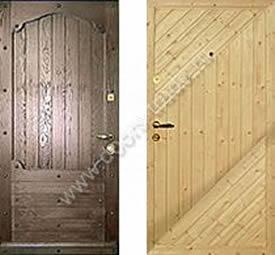Стальные двери отделанные вагонкой